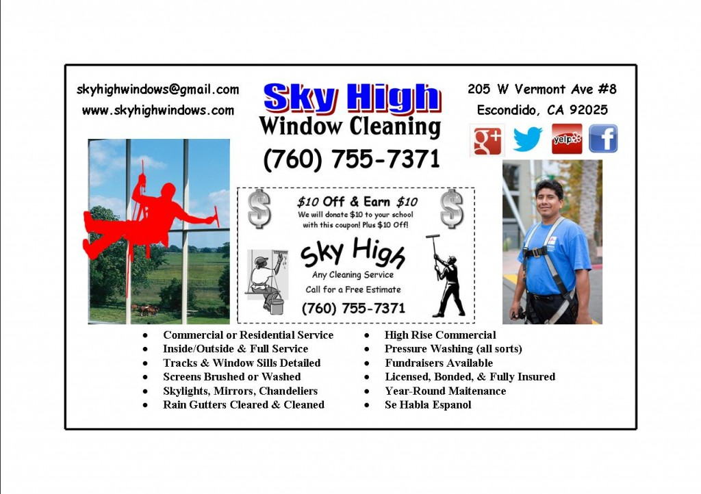 Sky High Window Cleaning 10/10 Fundraiser